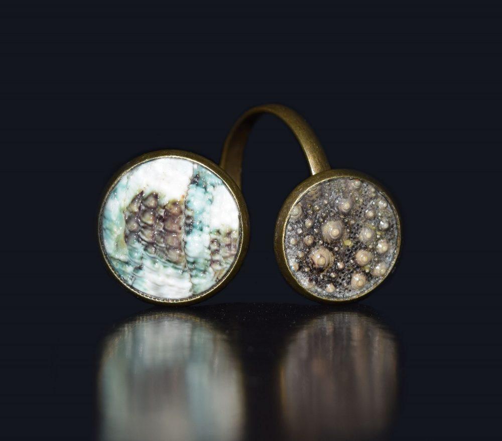 حلقه روسری صدفی انگشتر صدفی زیورآلات صدف