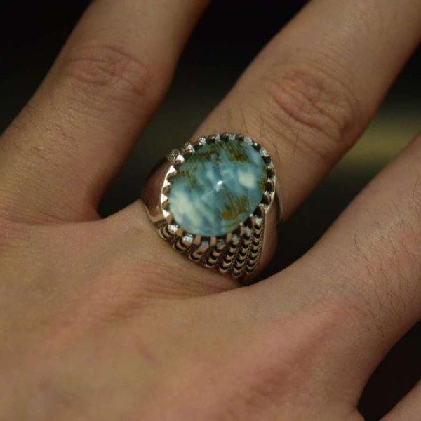 انگشتر صدف نقره مردانه