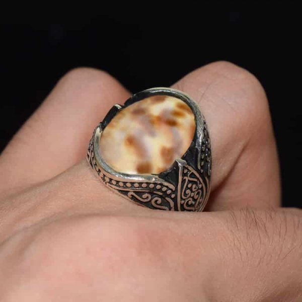 انگشتر زیلت نقره صدف