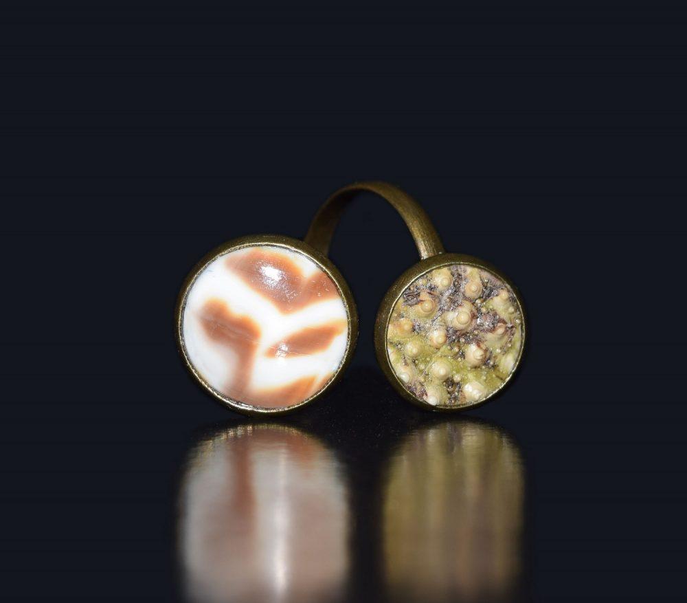 حلقه روسری صدفی انگشتر صدفی زیورآلات و جواهرات صدفی