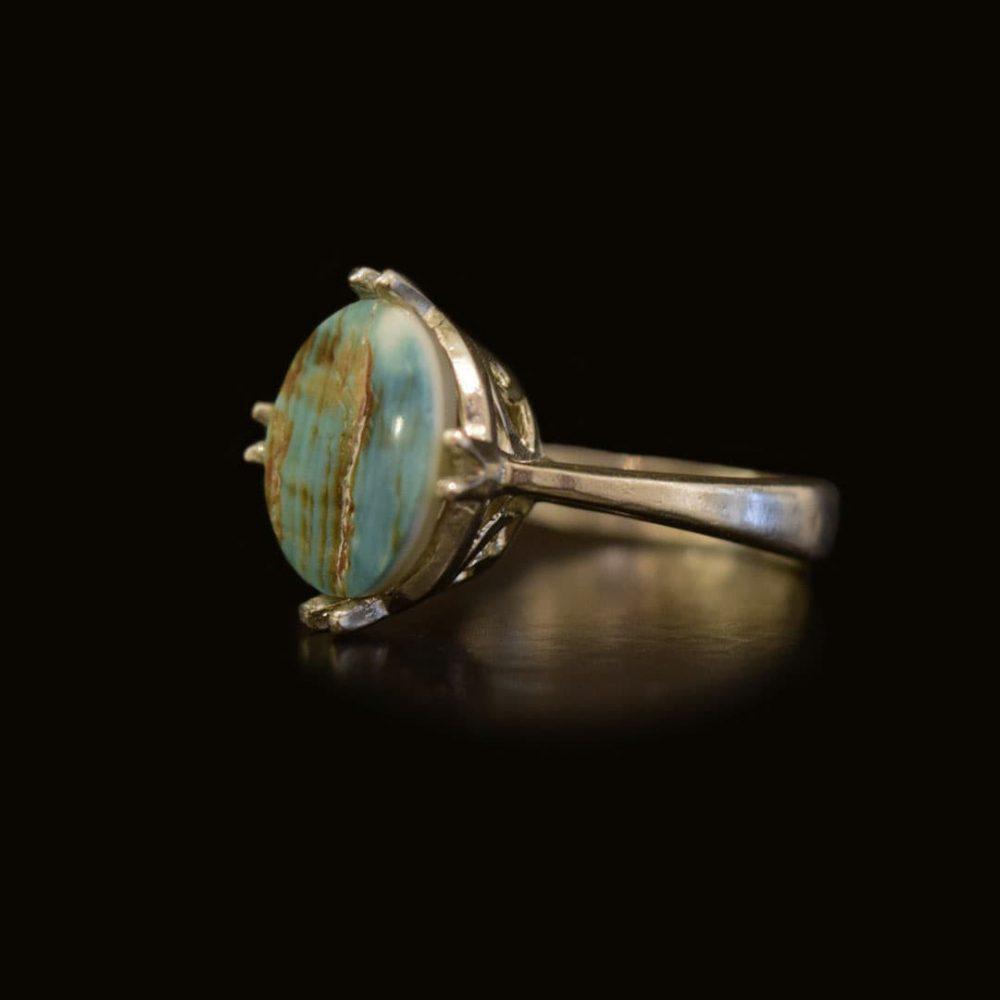 انگشتر صدفی نقره ایتاکا