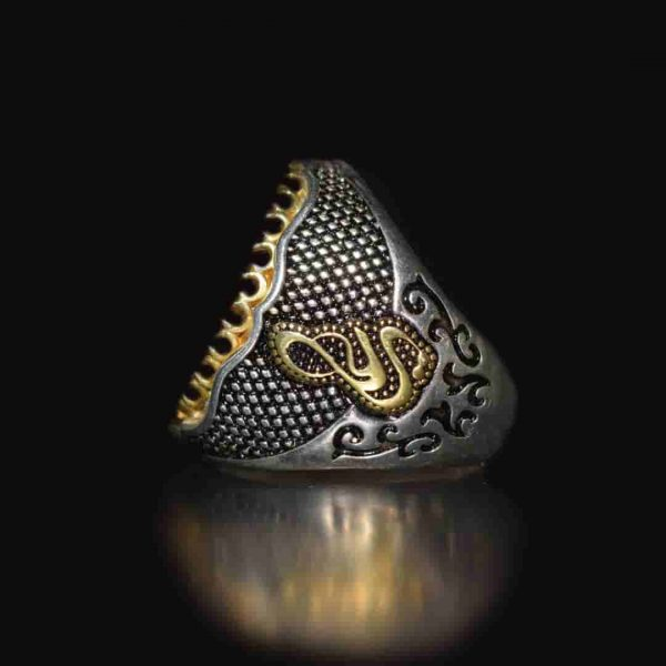 انگشتر نقره صدف مردانه