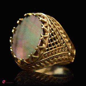 انگشتر مردانه صدف و طلا